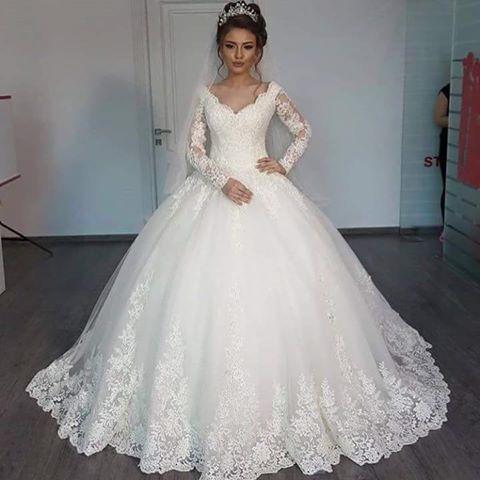 صورة فساتين افراح , اجمل فستان زفاف حصرى