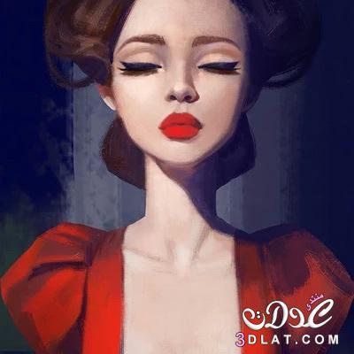 بالصور صور بنات جميلات رسم , رسومات بنت كيوت جديد بالصور 602 3
