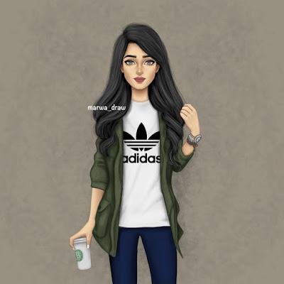 بالصور صور بنات جميلات رسم , رسومات بنت كيوت جديد بالصور 602 5