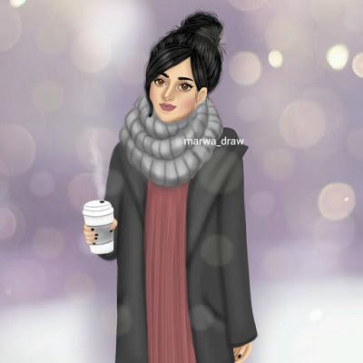 بالصور صور بنات جميلات رسم , رسومات بنت كيوت جديد بالصور 602 6