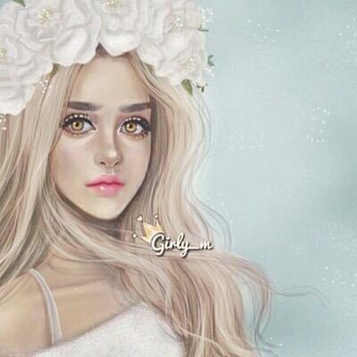 بالصور صور بنات جميلات رسم , رسومات بنت كيوت جديد بالصور 602 9