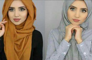 صورة حجابات 2019 , احلي موديلات حجاب 2019
