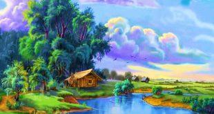 صوره رسم منظر طبيعي , التقاط وتجسيد المنظر الطبيعى فى رسومات رائعة