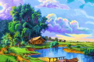 صور رسم منظر طبيعي , التقاط وتجسيد المنظر الطبيعى فى رسومات رائعة