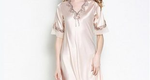 صورة قمصان نوم ستان , كولكشن شيك من قمصان النوم الرائعة تزيد من انوثتك