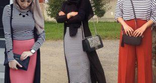 صورة تنسيق الملابس للمحجبات , طريقة لابراز اناقتك وجمالك بحجابك