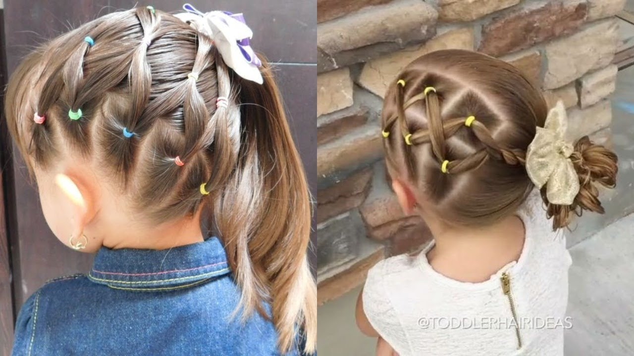 صورة تساريح اطفال , اهتمى بشكل شعر بنتك الصغيرة