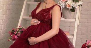 صورة فساتين سهرة للحوامل , لو حامل اختاري معانا فساتين روعة