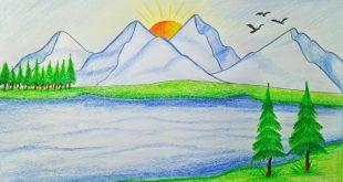 صورة رسم منظر طبيعي باليد , اكثر الرسومات المميزة
