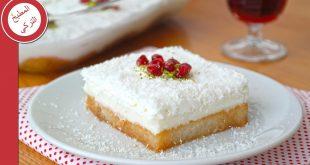 صورة طريقة عمل حلويات بسيطة , اشهى طعم لحلوى مهلبيه من جوز الهند