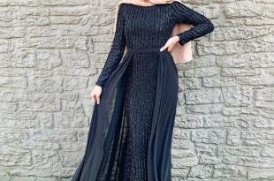 صورة صور فساتين سهرة للمحجبات , اختاري اشيك فستان اذا كان لديك بعض السهرات
