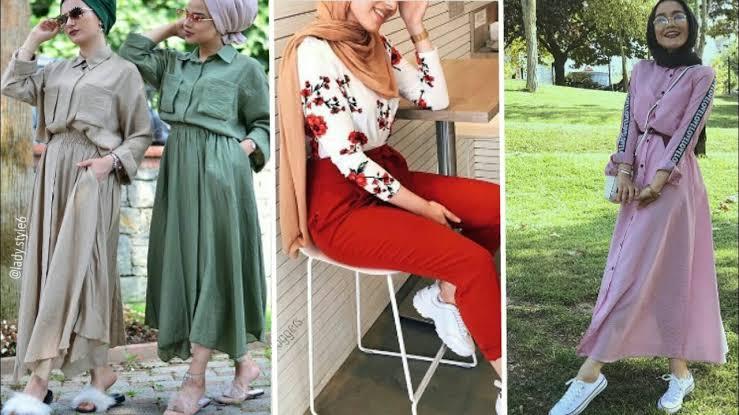 صورة ملابس محجبات 2019 , ازياء شيك ومحتشمة 4199 27