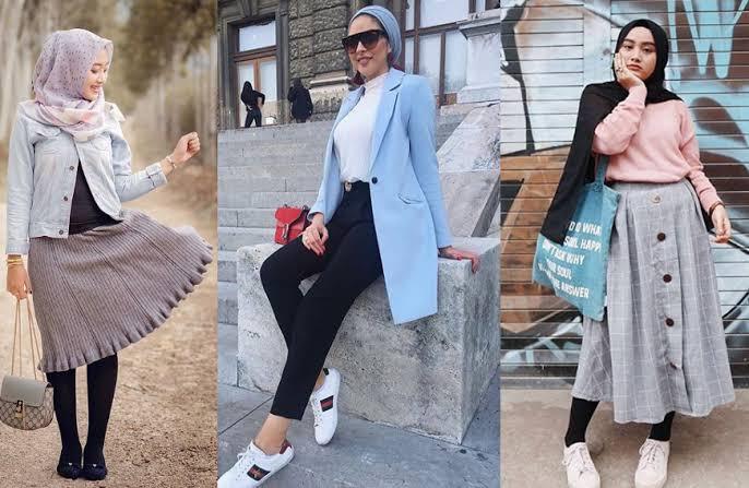 صورة ملابس محجبات 2019 , ازياء شيك ومحتشمة 4199 6