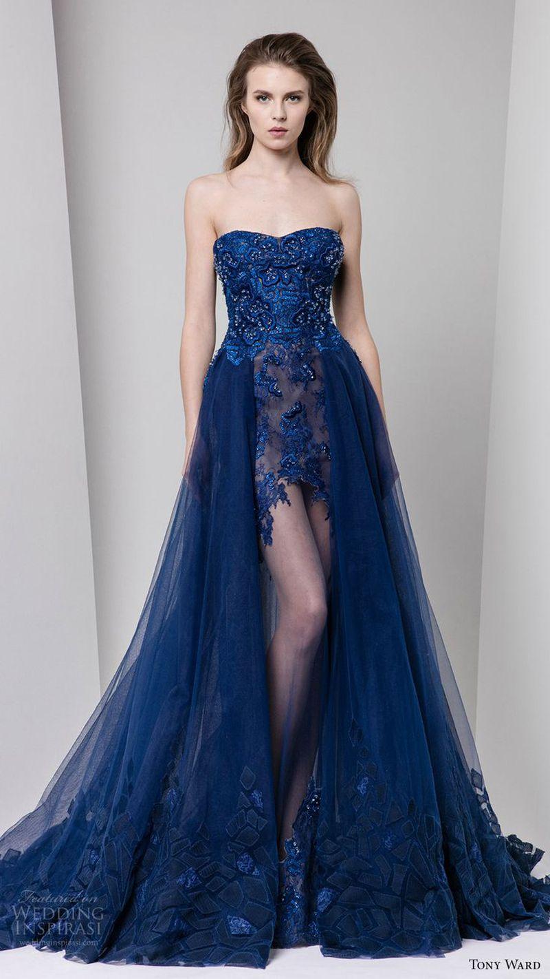 صورة اجمل فساتين سهرة , فستان مميز جدا بالوان على الموضه