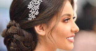 صورة تسريحات شعر عروس , تسريحات العروسة جنان