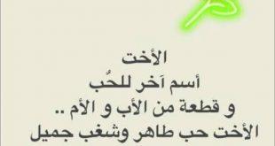 صورة كلام جميل عن الاخت , اختي نور بيتنا