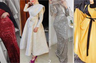 صورة فساتين محجبات سواريه , فستان رقيق اوى فى اللبس