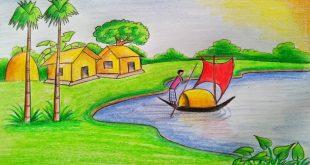 صورة رسم منظر طبيعي للاطفال , رسومات للتلوين للصغار