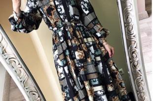 صورة فساتين محجبات 2019 , اتالقي باحلي فستان