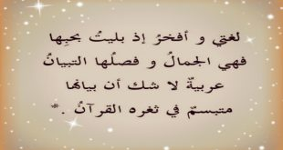 صورة اشعار باحلي لغة , شعر للغة العربية